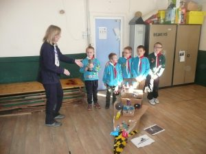 91st Beavers win District junk modelling competition.